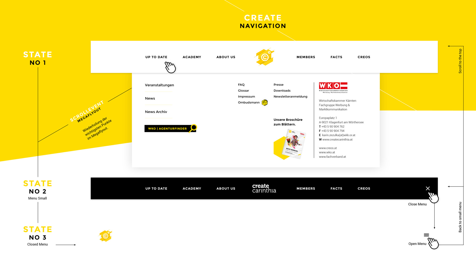 "Website ""Create Carinthia"" - Digital Design (Web/Multimedia) - Agentur im Park"